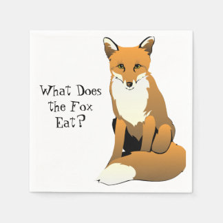 What Does the Fox Eat? Napkins Disposable Napkins