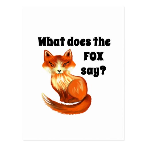 What Does the Fox Say Clothing and Gifts Postcards
