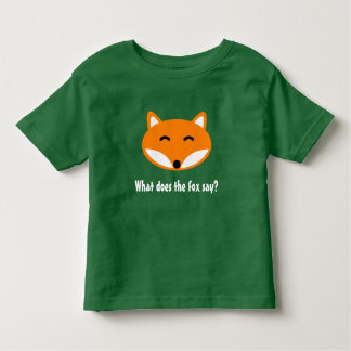 WHAT DOES THE FOX SAY cute animal toddler t shirt
