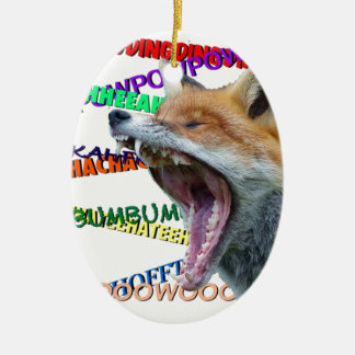 What Does the Fox Say Christmas Ornament