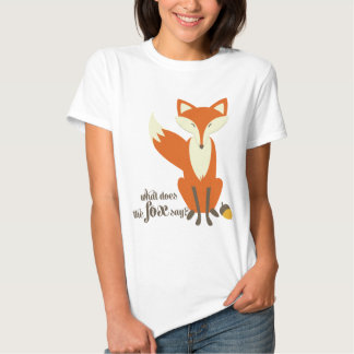 What Does The Fox Say Illustration Women's T Shirt