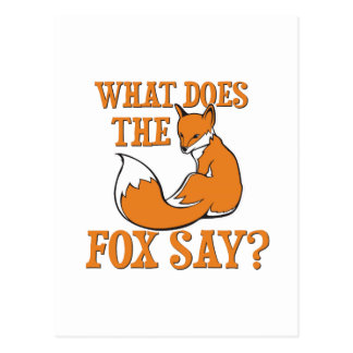 What Does The Fox Say? Postcard