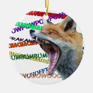 What Does the Fox Say? Round Ceramic Decoration