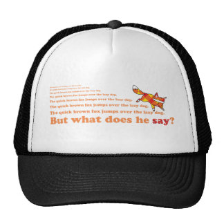 What Does the Quick Brown Fox Say? Cap