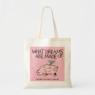 What Dreams Are Made Of - Flying Pig Cuts Tote Bag