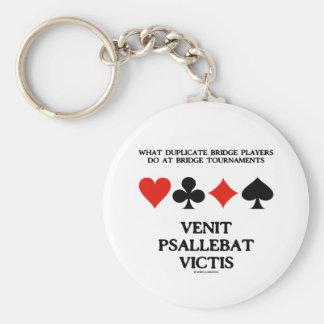 What Duplicate Bridge Do Venit Psallebat Victis Basic Round Button Key Ring