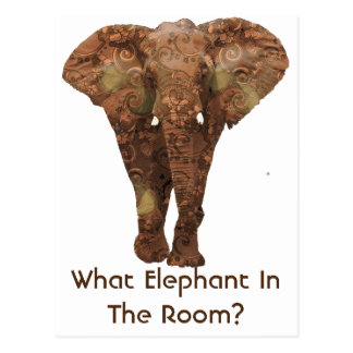 What Elephant In The Room Postcard