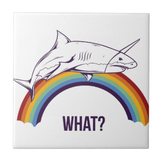 what, fish cool graphic design small square tile