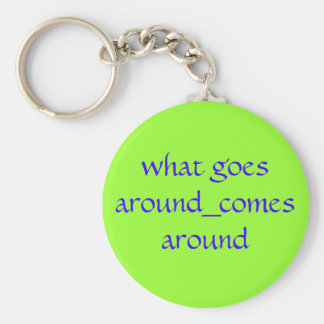 what goes around_comes around basic round button key ring