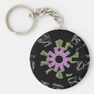 What Goes Around Comes Around Basic Round Button Key Ring