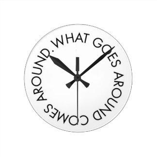 What Goes around Comes Around Clock