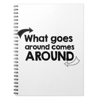 What goes around comes around notebook