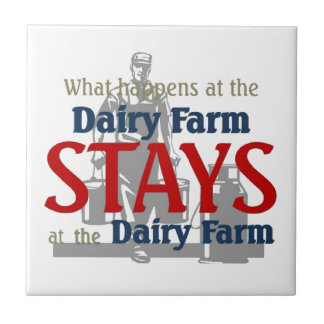 What happen at the dairy farm small square tile