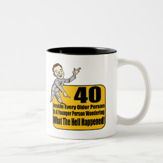 What Happened 40th Birthday Gifts Coffee Mugs