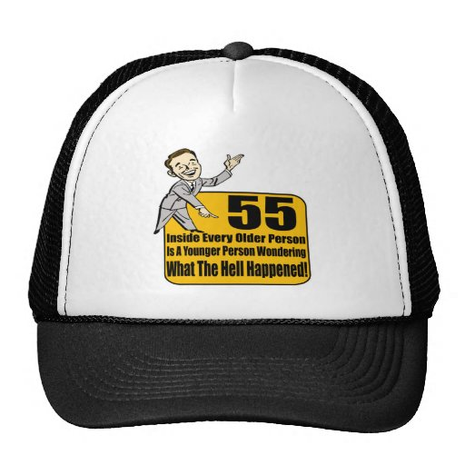 What Happened 55th Birthday Gifts Trucker Hats