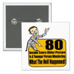 What Happened 80th Birthday Gifts 15 Cm Square Badge