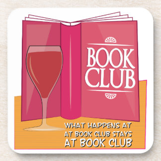 What Happens At Book Club Coaster