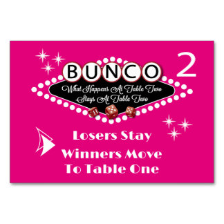What Happens At Bunco Table Card #2