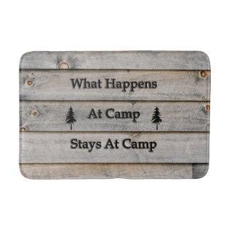 What happens at camp stays at camp bath mat