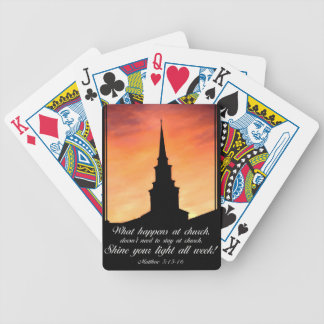 what happens at church bicycle playing cards