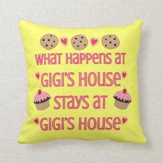 What happens at GiGi's House Throw Pillow