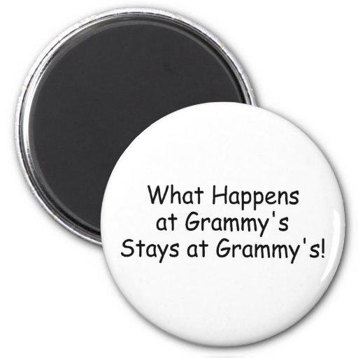 What Happens At Grammy Black Fridge Magnet