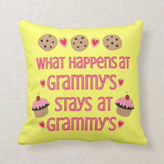 What happens at Grammy's Decorative Throw Pillow