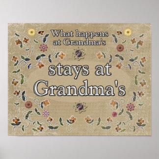 What happens at Grandma's _Print Poster