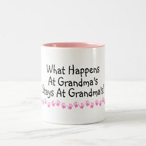 What Happens At Grandmas Stays At Grandmas Two-Tone Mug