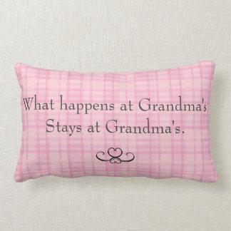What Happens at Grandmas Throw Pillow