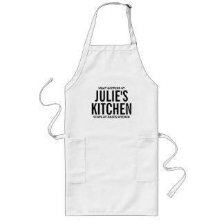 What Happens at Julie's Kitchen Long Apron