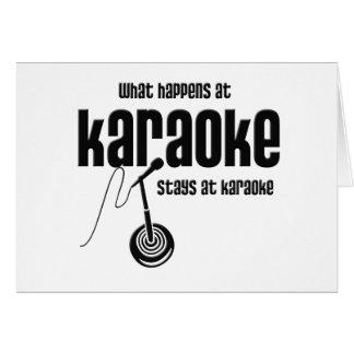 What Happens at Karaoke Card