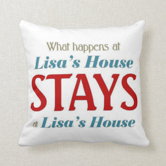What happens at Lisa's house Cushion