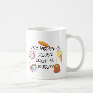What Happens at Nanny's STAYS at Nanny's Basic White Mug