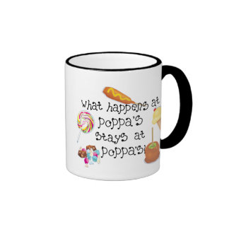 What Happens at Poppa's STAYS at Poppa's Coffee Mug
