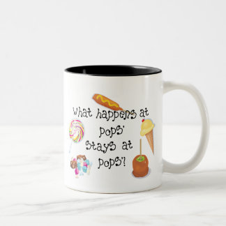 What Happens at Pops' STAYS at Pop's! Two-Tone Mug