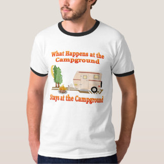 What Happens at the Campground Men's T-Shirt