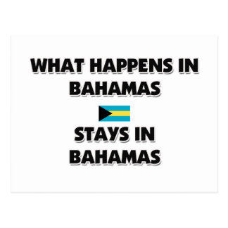What Happens In BAHAMAS Stays There Postcards