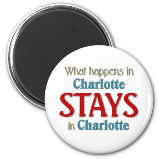 What happens in Charlotte 6 Cm Round Magnet