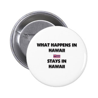 What Happens In HAWAII Stays There 6 Cm Round Badge