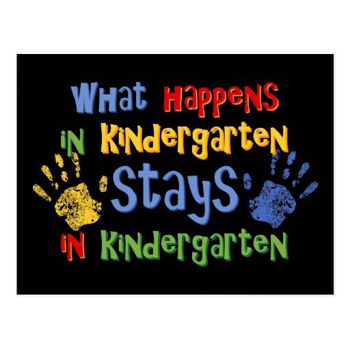 What Happens In Kindergarten Post Card