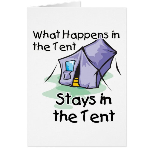 What Happens in the Tent Card