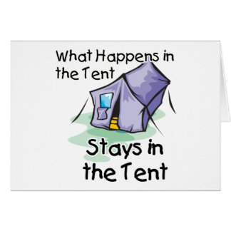 What Happens in the Tent Cards