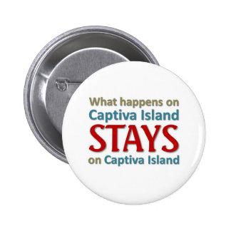 What happens on Captiva Island 6 Cm Round Badge