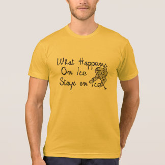 what happens on ice stays on ice hockey t-shirt