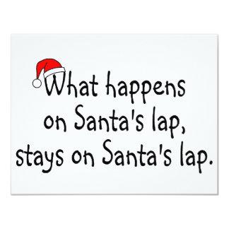 What Happens On Santas Lap Stays On Santas Lap 2 11 Cm X 14 Cm Invitation Card