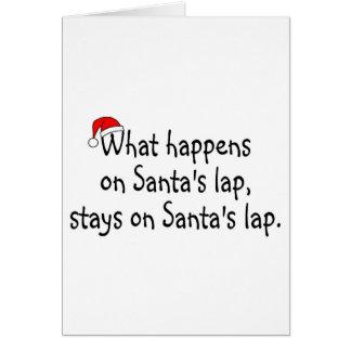 What Happens On Santas Lap Stays On Santas Lap 2 Card