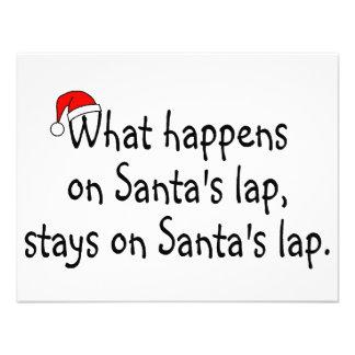 What Happens On Santas Lap Stays On Santas Lap 2 Personalized Announcements