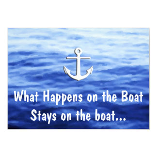 What Happens on the boat - Funny boating Card