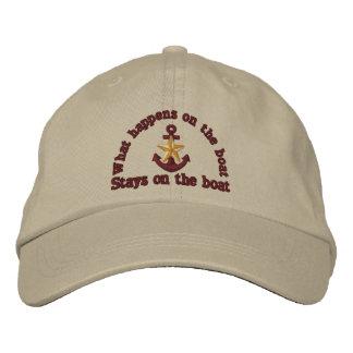 What happens on the boat golden star anchor baseball cap